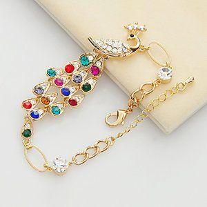 peacock chain bracelet
